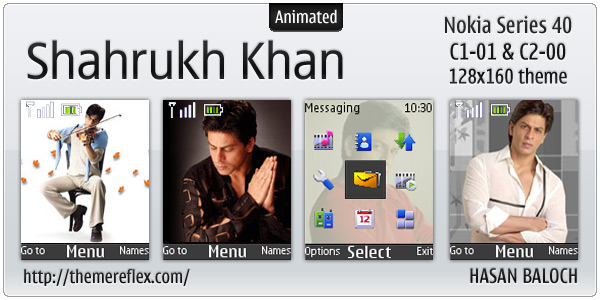 Shahrukh Khan theme for Nokia C1-01