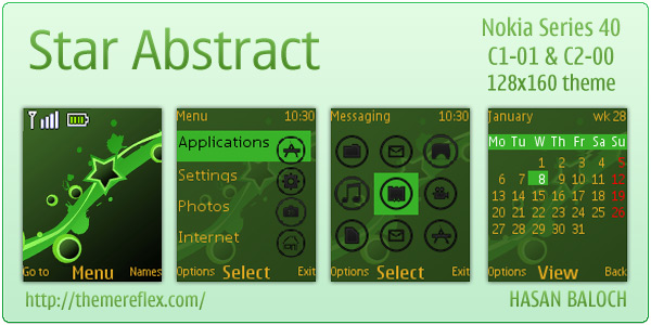 Nokia C1-01 Abstract themes