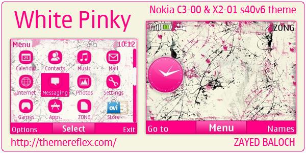 Nokia C3 Pink theme