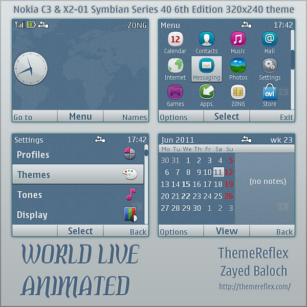 Nokia C3 animated theme