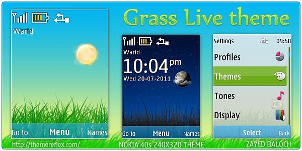 Grass Live theme