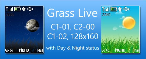 Grass Live theme for Nokia C1-01 & C2-00