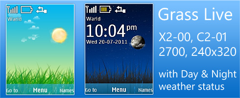 Grass Live theme for Nokia X2 & 240×320