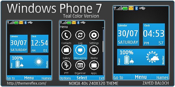 WP7 mobile theme for Nokia