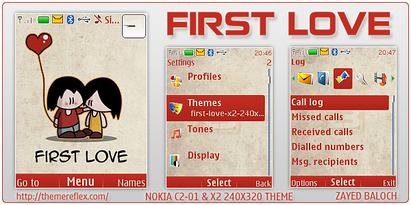 First Love theme for Nokia X2