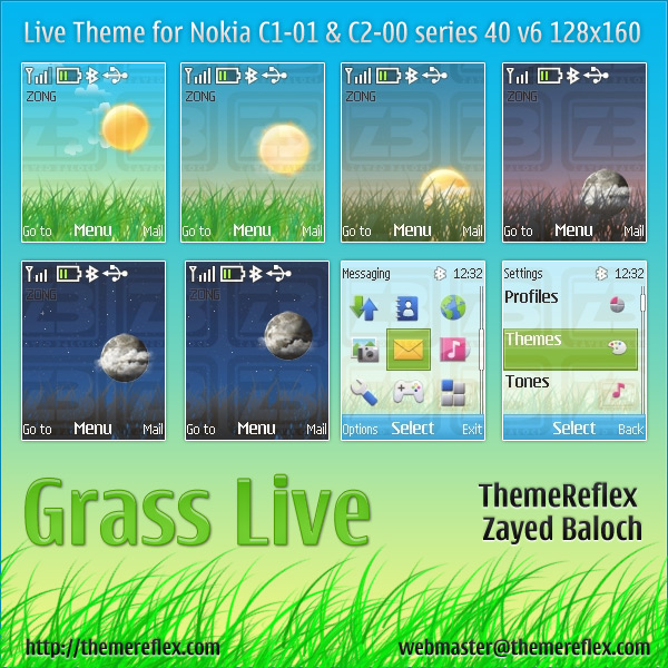 Grass Live theme for Nokia C1-01