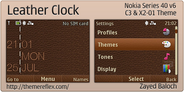 Nokia C3 Flash Lite themes