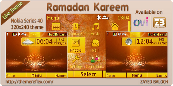 Ramadan Live theme for Nokia C3