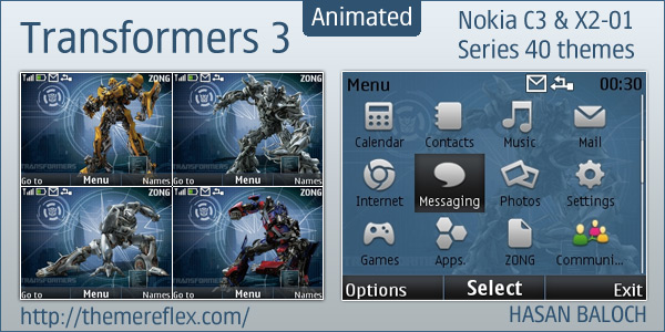 Transformers 3 Nokia animated theme