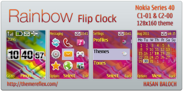 Flash Lite Flip Clock Nokia theme