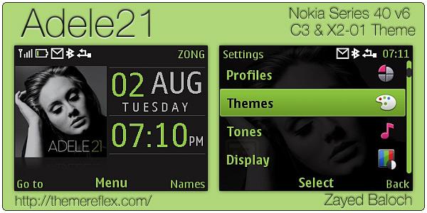 Adele21 Nokia C3 theme