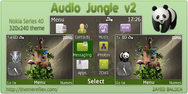Audio Jungle v2 theme for Nokia