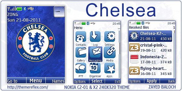 Chelsea theme for Nokia