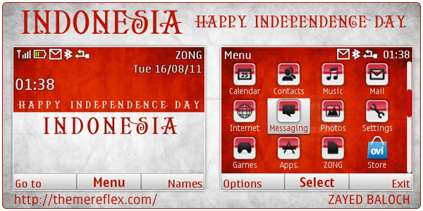 Indonesia Independence Day mobile themes