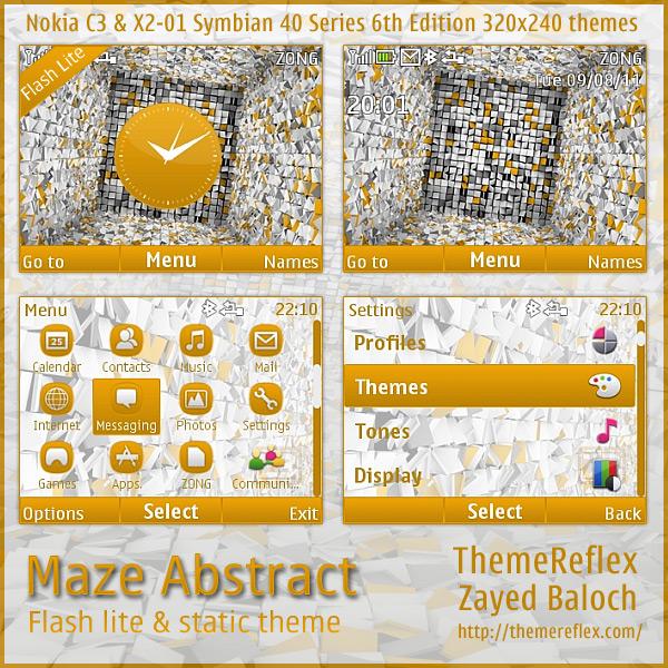 Maze Abstract theme for Nokia X2-01