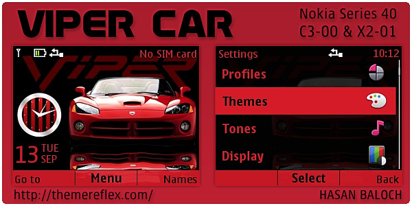 Viper Car Nokia Flash lite theme