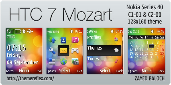 HTC 7 Mozart themes