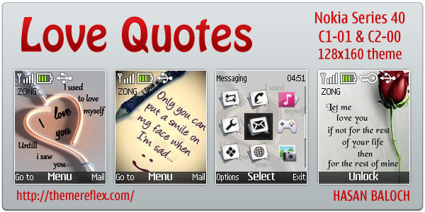 Love Quotes theme for Nokia