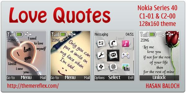 Love Quotes theme for Nokia C1-01 & C2-00