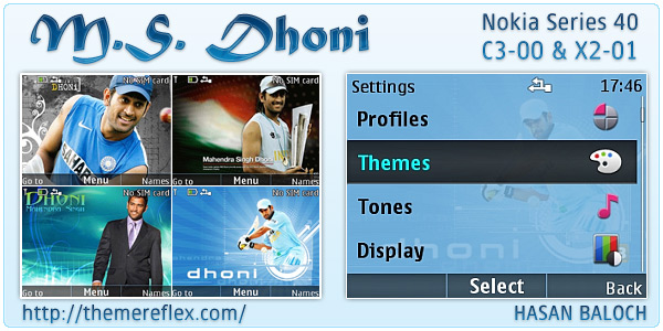 MS Dhoni Nokia animated theme