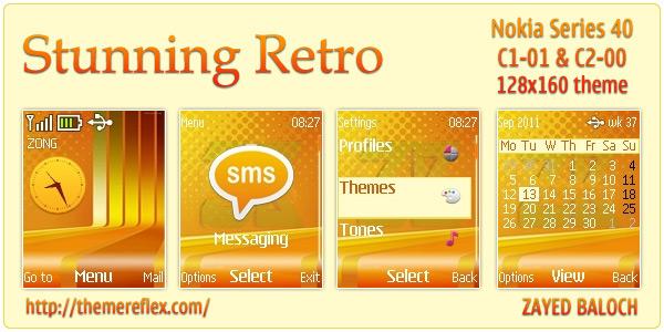 Stunning Retro Nokia C1-01 theme