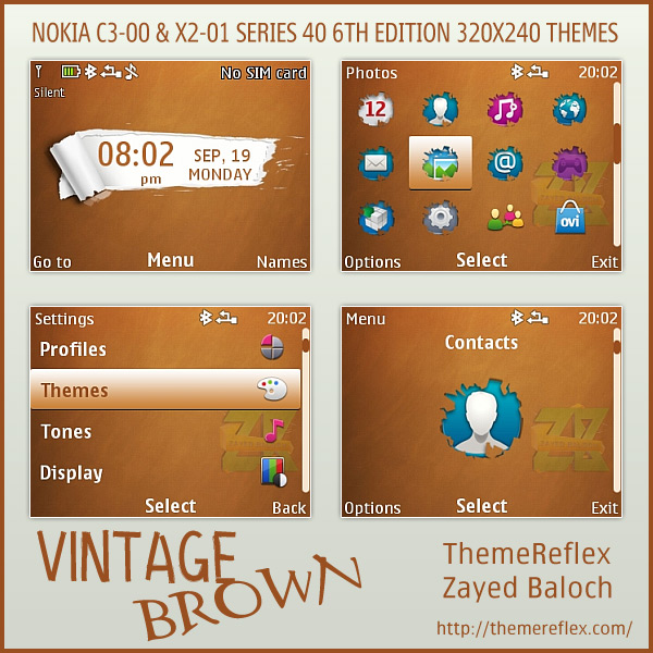 Vintage Brown Nokia Flash Lite Clock