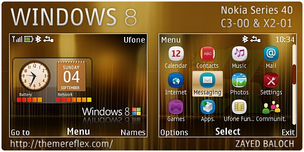 Windows 8 theme for Nokia