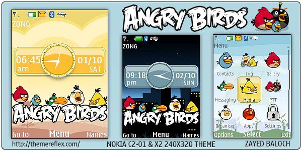 Angry Birds for Nokia X2, C2-01 & 240×320 (Updated) – ThemeReflex