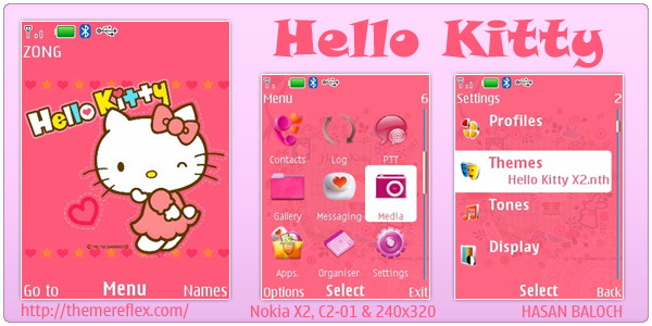 Hello Kitty Theme For Nokia X2 C2 01 240 320 Themereflex