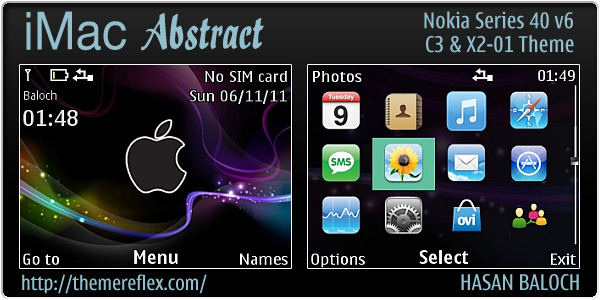 iMac abstract theme for Nokia C3 & X2-01