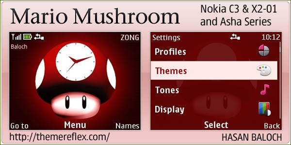 after light rays theme here is mario mushroom theme for nokia c3 x2 01