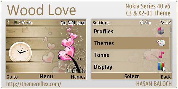 Wood Love theme for Nokia C3-00, X2-01 & Asha series