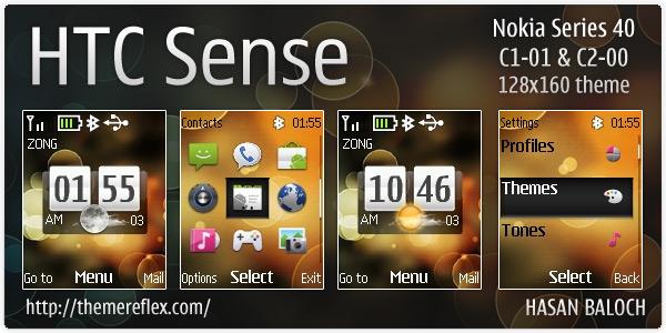 HTC Sense theme for Nokia C1-01 & C2-00