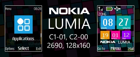 Nokia Lumia theme for C1-01, C2-00 & 2690