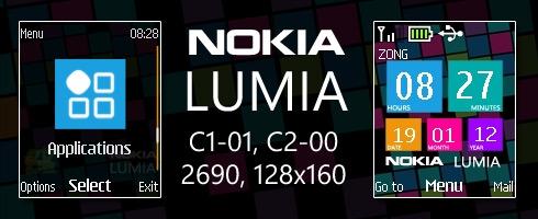 Nokia Lumia theme for C1-01, C2-00 & 2690