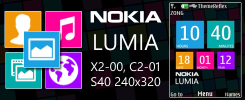 Nokia Lumia theme for X2-00, C2-01 & 240×320