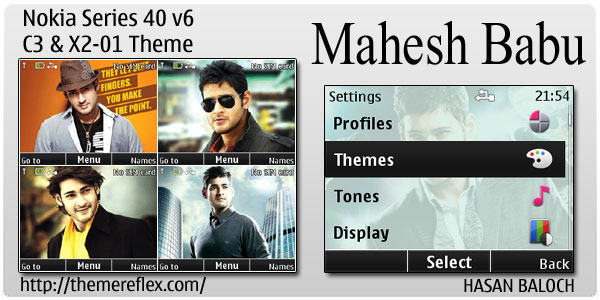 Mahesh Babu Animated theme for Nokia C3, X2-01 & Asha 200/201