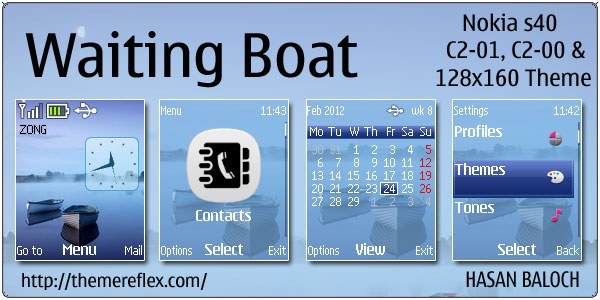 Waiting Boat Theme for Nokia C1-01 & C2-00