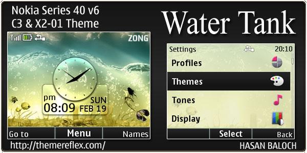 Water tank theme for nokia c3 x2 01 asha 200 201