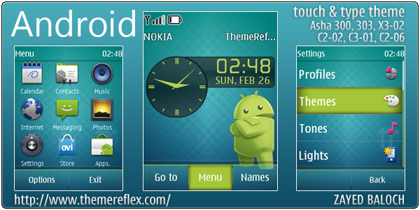 Android theme for Nokia Asha 303, 300, X3-02 & Touch and Type