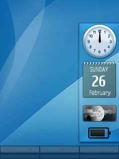 Blue Mac flash lite screensaver live wallpaper for 240×320