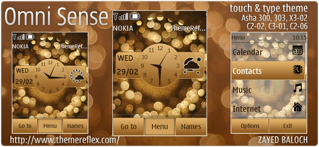 Omni Sense theme for Asha 303/300, Asha 202/203, X3-02, Touch & Type