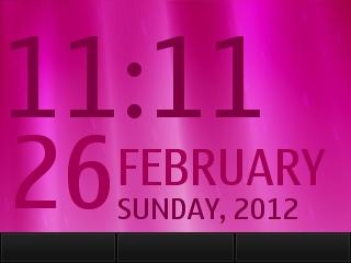 Pink Dgital Clock flash lite screensaver for 320×240