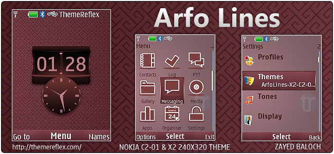 Arfo Lines theme for Nokia X2-00, C2-01 & 240×320 (Updated)