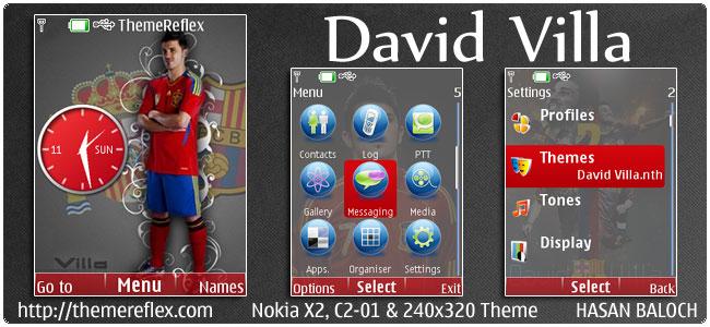 David Villa Theme for Nokia X2, C2-01 & 240×320