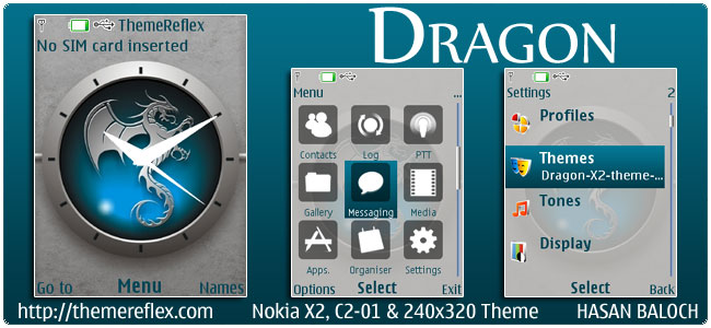 Dragon Theme for Nokia X2, C2-01 & 240×320
