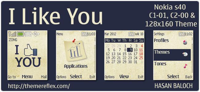 I Like You theme for Nokia C1-01 & C2-00