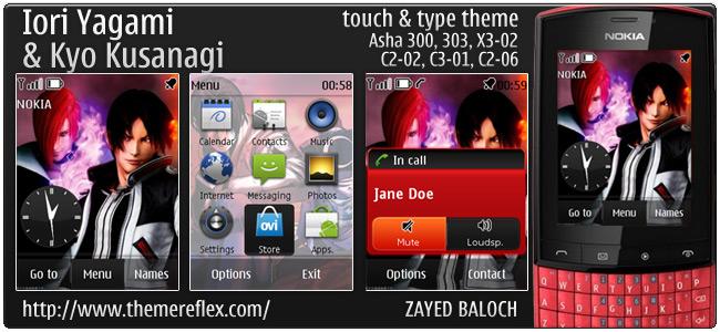 Iori Yagami & Kyo Kusanagi theme for Nokia Asha 303/300, X3-02 and Touch & Type