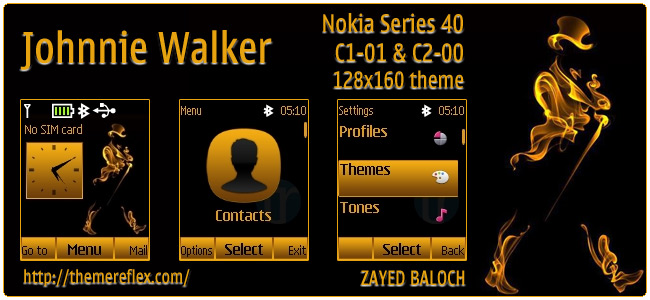 Johnnie Walker theme for Nokia C1-01, C2-00 & 128×160