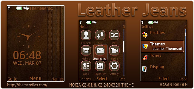 Leather Jeans theme for Nokia X2-00, C2-01 & 240×320